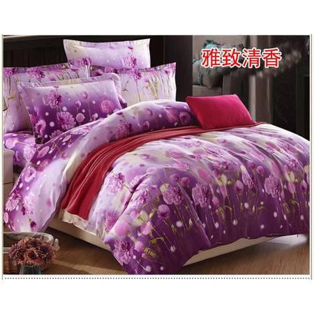 全棉高支高密加厚活性磨毛四件套床单2.45*2.5+被套2.0*2.3