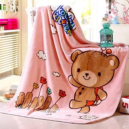 超柔卡通儿童婴童保暖盖毯 法兰绒午睡毯毛毯110*140CM
