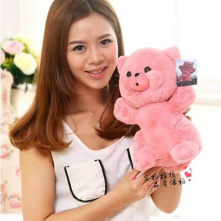 4号粉红猫 填充毛绒玩具猫咪 长28CM