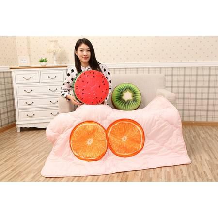 水果树桩空调被抱枕靠垫被1×1.5米