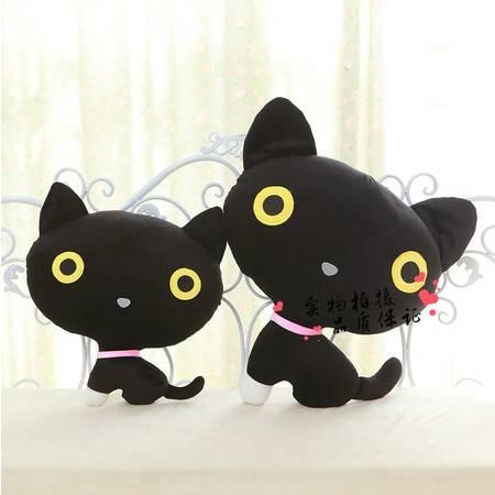 2号猫小黑可爱猫咪 猫猫 填充毛绒玩具公仔长40CM