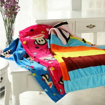 猴年吉祥物大号猴子珊瑚绒毯 披风 空调毯毯子1.5×2米