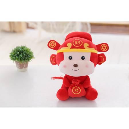 发财猴子小公仔猴年吉祥物毛绒玩具公仔20CM财神到音乐版