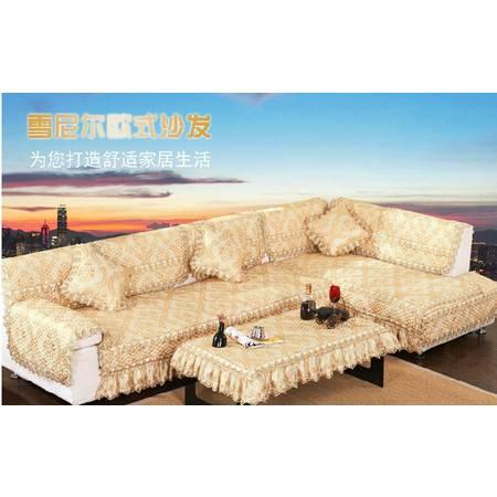 高档欧式风情布艺沙发垫加厚防滑蕾丝组合沙发坐垫110*240(五人座)