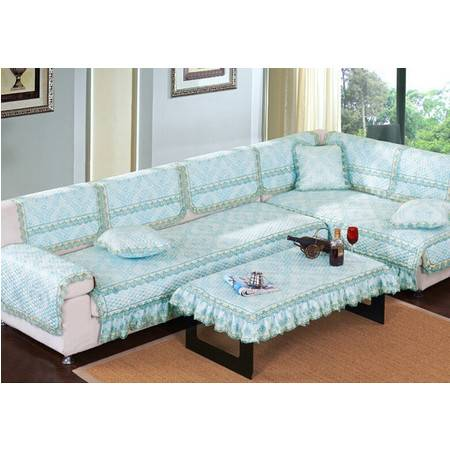 高档欧式风情布艺沙发垫加厚防滑蕾丝组合沙发坐垫90*210(四人座)