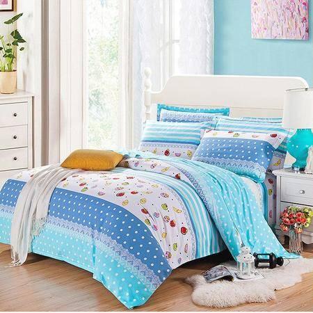 全棉保暖磨毛1.8M床加厚被套床单四件套被套220*240cm床单245*270
