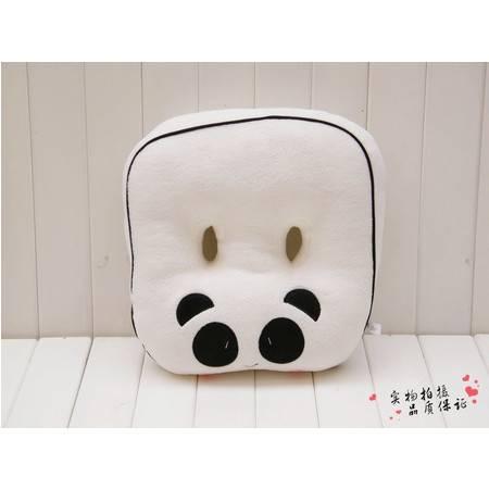 可爱毛绒熊猫双孔坐垫 创意家居38×35CM