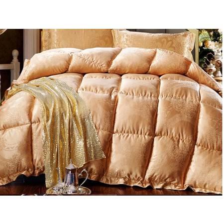 高档丝绵提花 超柔羽丝绒保暖冬被 单双人透气暖肤冬被220*240 8.0斤