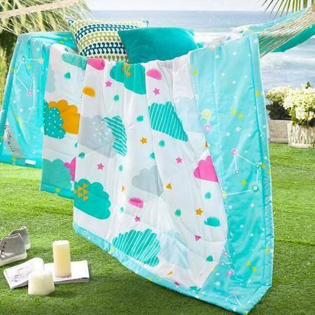 纯棉印花被 机洗水洗被夏凉被空调被单双人被150*200CM