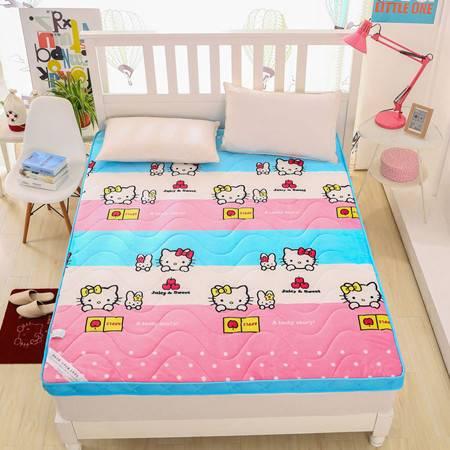 印花立体床垫法莱绒保暖软床垫学生宿舍可爱卡通褥子150*190CM