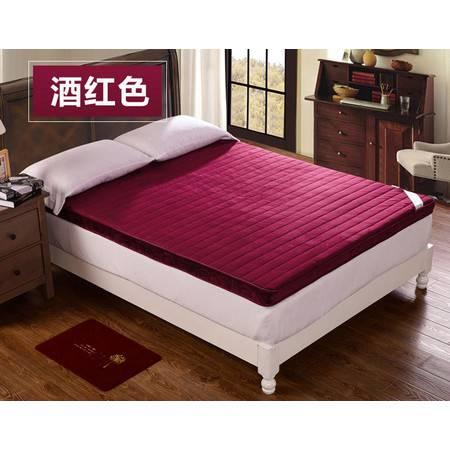 宾馆法莱绒立体床垫加厚可折叠床褥子学生宿舍软床垫180*200CM