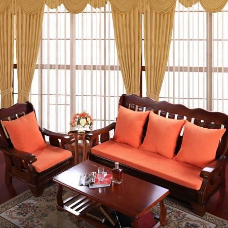 玉米绒实木沙发椅坐垫加厚椅垫抱枕55*55
