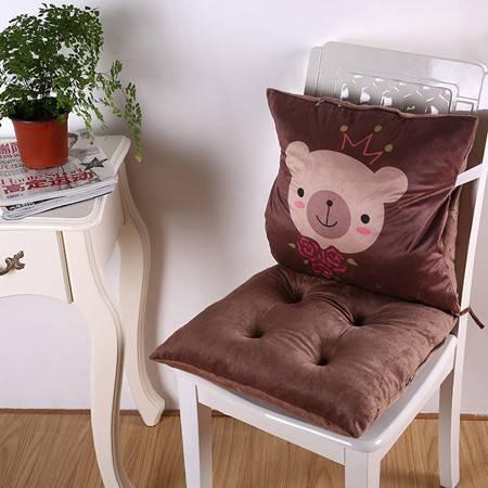卡通多功能可拆分连体办公室加厚坐垫单坐垫40*40