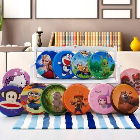 创意圆形卡通坐垫仿真3D水果系列坐垫加厚可拆洗