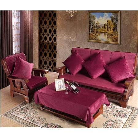 加厚实木连体沙发椅垫可拆洗简约现代坐垫50*50CM