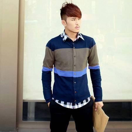 mssefn 2014新款 休闲时尚款针织衫男士修身韩版外套2111-X02