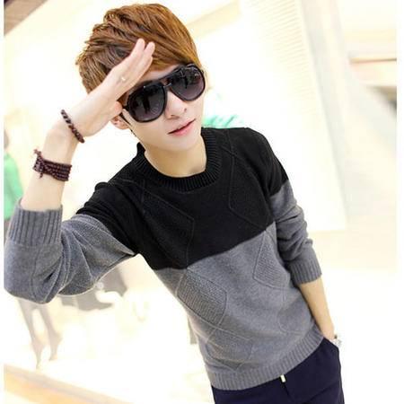 mssefn 2014新款 韩版针织衫男青少年毛衣男 套头线衣 学生圆领毛衣2111-662