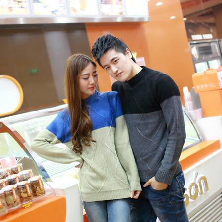 mssefn 2014新款 秋装韩版长袖圆领修身长袖情侣毛衣 单件2111-8802