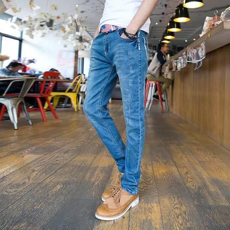 mssefn 2014新款时尚百搭个性潮P泼墨修身小脚牛仔裤子2098-NZ69