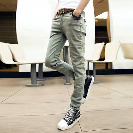 mssefn 2014新款时尚百搭个性潮修身复古男士小脚牛仔裤2098-K33