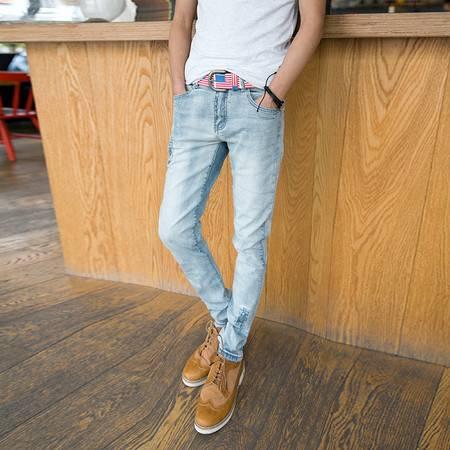 mssefn 2014新款 时尚百搭个性潮修身小脚牛仔裤2098-NZ66