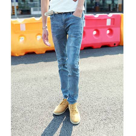 mssefn 2014新款 时尚百搭个性潮水洗 男装韩版潮小脚牛仔裤2098-B01