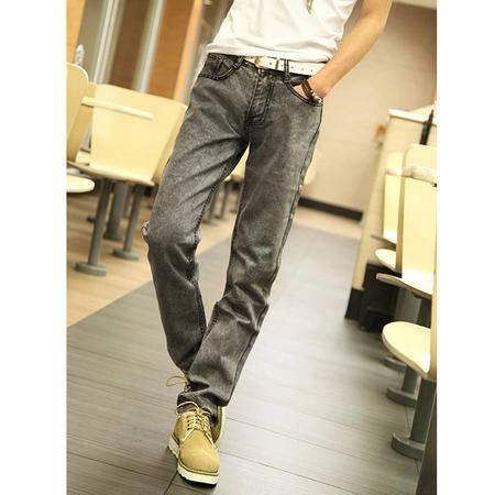 mssefn 2014新款 时尚百搭个性潮雪花个性牛仔裤2098-NZ13