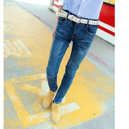 mssefn 2014新款 时尚百搭个性男士潮修身男士牛仔裤 2098-B09