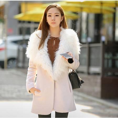 mssefn 2014新款 加厚羊绒毛呢外套 羊毛大领风衣 呢大衣8612-9502
