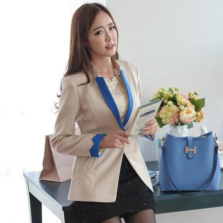 mssefn   2014秋装新款韩版修身撞色小西装外套8629-2189
