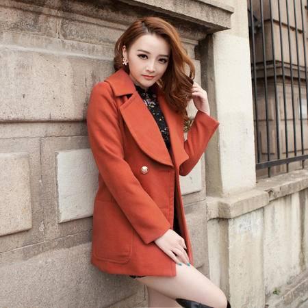 mssefn  2014新款 韩版短款加厚版毛呢外套 棉衣 8612-9511