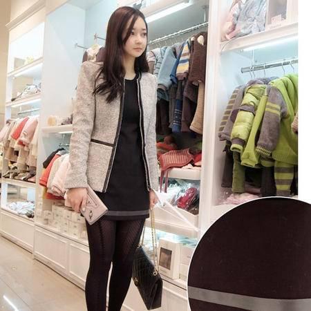 mssefn 2014新款 韩版女装长袖毛呢连衣裙 打底裙  8612-9525
