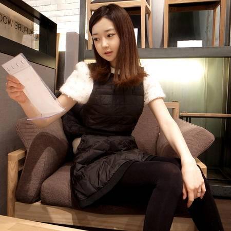 mssefn  2014新款 韩版女装泡泡袖修身 羽绒棉连衣裙 手工钉珠 8612-9531-1