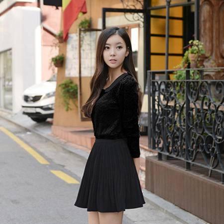 mssefn  2014新款 高档韩版娃娃领翻领蕾丝打底衫 衬衫 8619-Q831