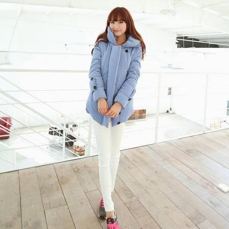 mssefn  2014新款 冬季保暖棉衣 面包领外套厚棉袄 拉链款 8619-F105