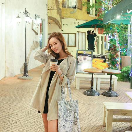 mssefn  2014新款 时尚风衣女装 经典简约秋装外套 8611-F11