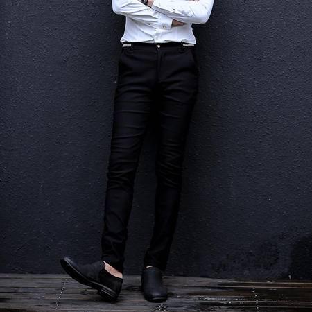 mssefn2014秋装新款男装韩版修身小直脚休闲裤百搭直筒裤男瘦身裤子K126