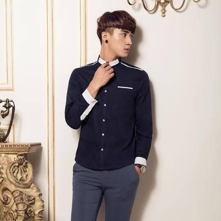 mssefn2014新款春秋款高质量韩版修身潮男长袖衬衫QT1303/CS01