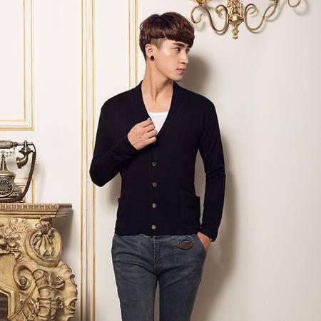 mssefn2014新款超高质量韩版休闲翻领开衫针织衫毛衣QT1303/K39