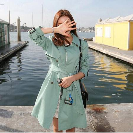 mssefn  2014秋装新款韩版外套长款风衣纯色女8609-W511