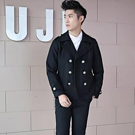 mssefn  2014新款 男士大尼衣外套男士韩版修身外套男短款尼衣2068-M04