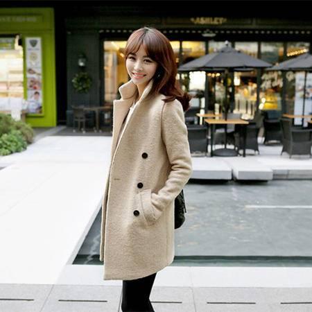 mssefn   2014秋冬装新款韩版长袖大衣纯色外套8609-W509