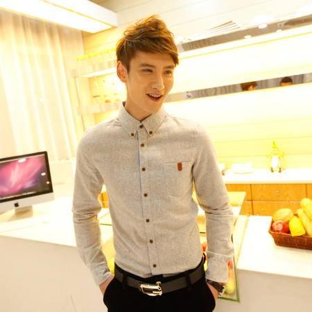 mssefn2014秋冬新款韩国销量榜爆款牛仔长袖袖衬衫  c810