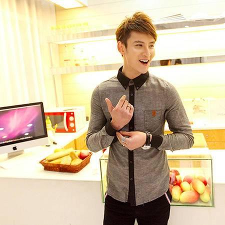 mssefn2014秋冬 韩版新款时尚休闲牛仔长袖衬衫 c809