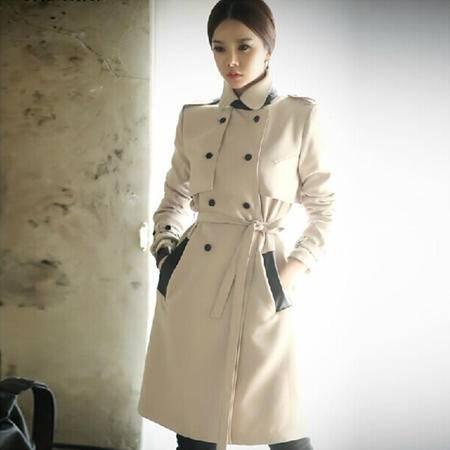 mssefn2014秋冬新款韩版修身中长款风衣 8201-F713