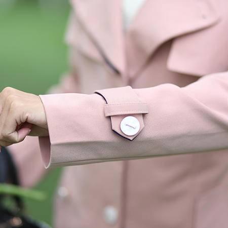 mssefn2014秋冬新款修身韩版风衣女装淑女显瘦外套  8201-F710