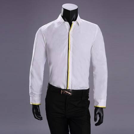 mssefn   2014秋装新款 韩版时尚帅气纯色休闲男士衬衫2066-T81