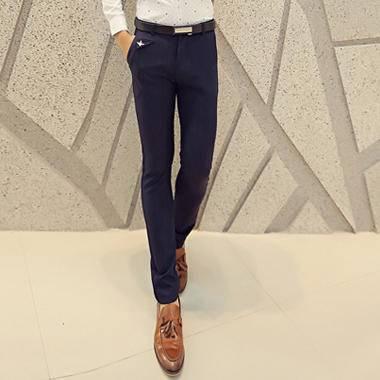 mssefn2014秋冬新款时尚修身韩版百搭长裤 休闲裤 男2033 k29