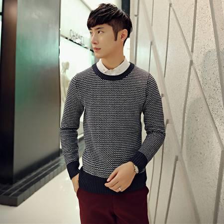 mssefn2014秋冬新款小时代风条纹韩版毛衣  男士针织衫2033 M32