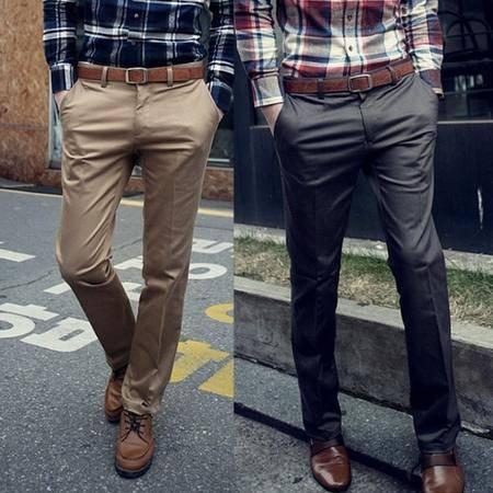 mssefn2014秋冬新款韩版 男士休闲西裤 男式纯色直筒长裤男裤 男装 K02